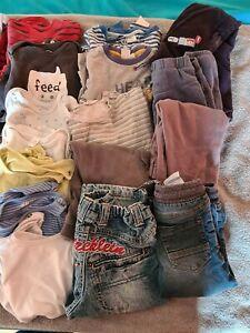 Kleiderpaket Gröse 80 Gebraucht 23 Teile Hosen T-Shirts Bodies