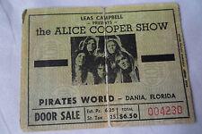 ALICE COOPER Original__1973__CONCERT TICKET STUB__Dania, FL
