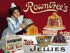 Rowntrees Jelly,Vintage Annonce,Cuisine,café/Restaurant,Petit Métal/étain signe