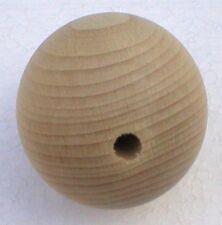 Holzkugeln Ø 20 mm Kugel mit kompletter Bohrung Buche natur Rohholzkugeln