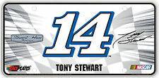 #14 Tony Stewart Signature Series Souvenir License Plate SS1409BBK
