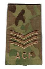 Pair of Multicam Sergeant ACF Military Rank Slides
