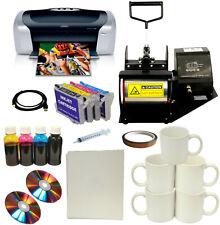 New Mug Cup Heat Press,Epson Printer,Refi Bulk ink Cartridge,Transfer Paper Pack