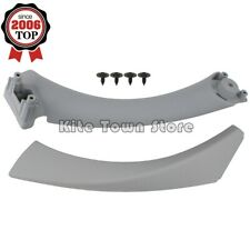 RIGHT SIDE Gray INNER OUTER DOOR PANEL HANDLE PULL TRIM COVER FOR BMW E90 328i