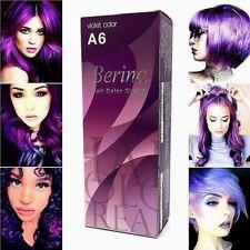 New!!!BERINA PROFESSIONAL PERMANENT HAIR DYE COLOR CREAM PURPLE VIOLET # A6