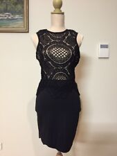 Boohoo Black Lace Dress With Scalloped Hem, Size 8, Great Condition