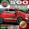 Fiat 500 595 Side Stripes Graphics Decals Stickers Vinyls any colours