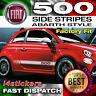 Fiat 500 595 Strisce Laterali Adesivi Decalcomanie Grafiche Vinilici Ognuna