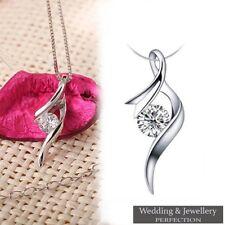 925 Sterling Silver Crystal Rhinestone PENDANT Women Wedding Jewelry - NO CHAIN