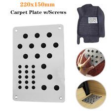 1pcs Universal Silver Car Floor Mat Foot Heel Scuff Plate Non Slip Carpet Screws