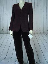 Lafayette 148 NY Blazer Pant Suit 4P New $895 Animal Print Velvet Pant