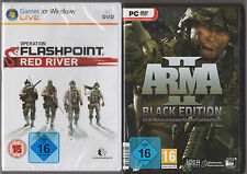 ARMA 2 Black Edition + Operation Flashpoint Red River Sammlung PC Spiele