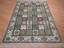 4x6 100% Super Fine SILK QUM Intricate Design Handmade-knotted Rug 580635