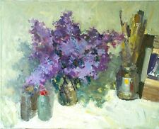 Lilacs by E. Lozovoy Original oil painting Realistic Still Life on canvas