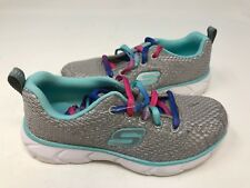 New! Skechers Youth Girl's Shoes Grey/Mint #59602L 146R z