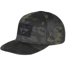 Condor Flat Bill Snapback Cap Baseball Mens Tactical Hat MultiCam Black Camo