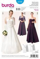 BURDA SEWING PATTERN MISSES' WEDDING GOWN DRESS PLUS SIZE 18 - 28  6710