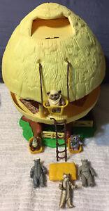 Vtg Star Wars EWOK FAMILY HUT Tree House PlaySet Complete? 1984 Kenner Figures