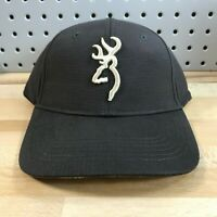 Browning Firearms Over/Under Buckmark Logo Cap Black Camo OSFA Strapback Hat NWT