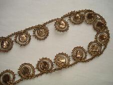 galon d'or ancien  antique gold metallic trim  alte Goldlitze - 140 cm