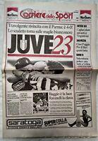 CORRIERE DELLO SPORT 22 MAGGIO 1995 JUVENTUS VINCE 23° SCUDETTO JUVE PARMA 4-0