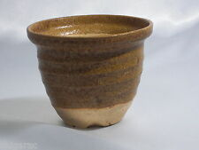 "Bonsai pot shigaraki grès ""ocre petit pot"" d10cm planteuse japonais"