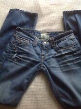 Taverniti So Jeans Women's Janis Low Bootcut Distressed Wash  Sz 26