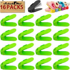 16x Schuhme Adjustable Shoe Shelf Schuhstapler Shoe Holder Shoe Storage