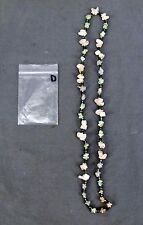 Handmade Natural Gem Stone Chip Necklace 32'' Rose Quarts / Clear Quarts Lot-D