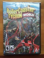 Rollercoaster Tycoon World Brand New Factory Sealed Roller Coaster PC Game