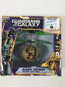 Marvel Guardians Of The Galaxy Baby Groot IR UFO Ball Helicopter FUN
