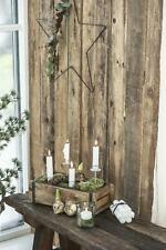 Vintage Kerzenständer für Stabkerze Kerzenhalter Halterung Brocante weiß lang