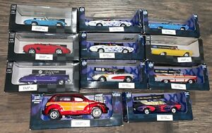 NEW RAY 1:43 1/32 SCALE DIE CAST CARS LOT OF 11