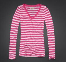 Hollister by Abercrombie PINK/White Stripes L/S Shirt Small S NEW Beacon's Beach