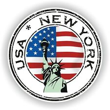 Seal Sticker of USA New York Stamp Bumper Roundel Laptop Car Truck