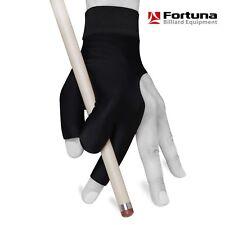 Fortuna Billiard Pool Cue Glove - Pro Series - Black - Open fingers