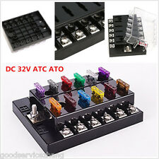DC32V 12 Way Terminals Circuit Car Auto Boat Blade Fuse Box Block Holder ATC ATO