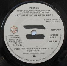 """PRINCE Let's Pretend We're Married Ex to NM- CANADA 1983 PROMO FUNK SOUL 45 7"""""""