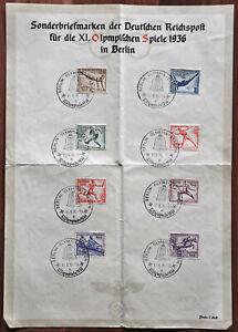 Briefmarken Deutsches Reich MiNr.609 - 616 Sonderstempel Ganzsache
