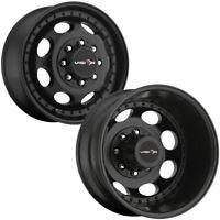 "Set of 4-17"" Inch Vision 181Z Hauler Dually 8x210 Matte Black Wheels Rims"
