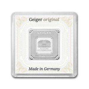 20 Gram Silver Bar   Geiger Edelmetalle Square Bar Encapsulated in Assay   .999