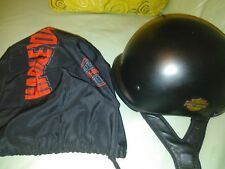 Harley Davidson Black Half Shell Open Face Motorcycle Helmet DOT Size medium