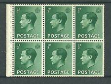 1936, Booklet Pane, Pb1, ½d Green, Wmk. Upright, Perf. E, Umm, (02837)