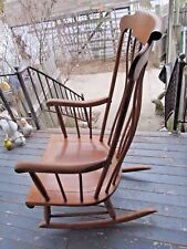 Vintage Nichols and Stone Rocking Chair Bowed Back NURSERY ROCKER SOLID WOOD WOW