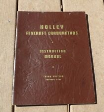 WW2 US Army Military 1941 WWII HOLLEY AIRCRAFT CARBURETORS Book