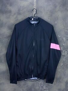 Men's Rapha Replica Black Cycling Jersey Long Sleeve Size M Polyester