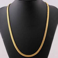 Punk 18K Stamp Snake Chain Necklace Gold Plated Jewelry for Men Accessories