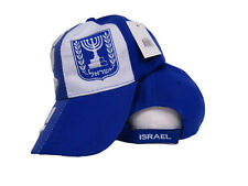Israel Candelabra Country Blue and White Baseball Hat Cap 3D embroidered