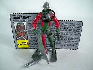 K21i0072 UNDERTOW V1 W/ FILE CARD 1990 GI JOE 100% COMPLETE FIGURE VINTAGE