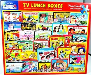 """White Mountain Puzzles 1000 Pieces """"TV Lunch Box"""""""